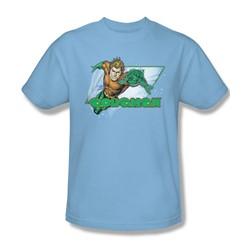 Aquaman - Aquaman Adult T-Shirt In Light Blue