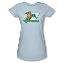 Aquaman - Aquaman Juniors T-Shirt In Light Blue