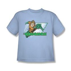 Aquaman - Aquaman Youth T-Shirt In Light Blue
