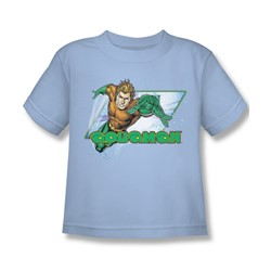 Aquaman - Aquaman Juvee T-Shirt In Light Blue