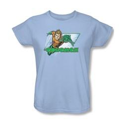 Aquaman - Aquaman Womens T-Shirt In Light Blue