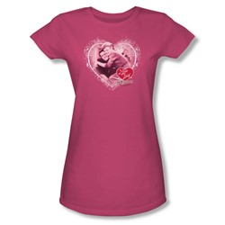 I Love Lucy - Happy Anniversary Juniors T-Shirt In Hot Pink