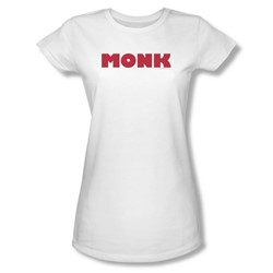 Monk - Monk Logo Juniors T-Shirt In White
