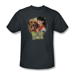 Punky Brewster - Punky & Brandon Adult T-Shirt In Charcoal