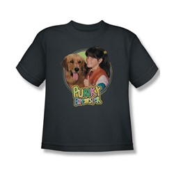 Punky Brewster - Punky & Brandon Big Boys T-Shirt In Charcoal