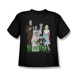 The Munsters - The Family Big Boys T-Shirt In Black