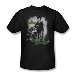 The Munsters - Have You Seen Spot Adult T-Shirt In Black