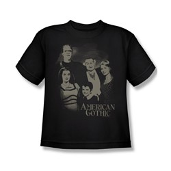 The Munsters - American Gothic Big Boys T-Shirt In Black