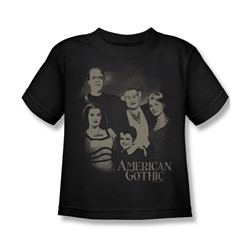 The Munsters - American Gothic Juvee T-Shirt In Black