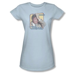 Columbo - Inconspicuous Juniors T-Shirt In Light Blue