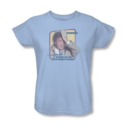 Columbo - Inconspicuous Womens T-Shirt In Light Blue