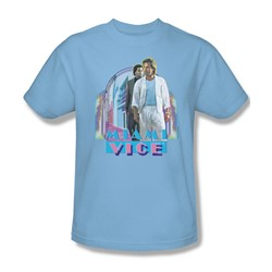 Miami Vice - Miami Heat Adult T-Shirt In Light Blue