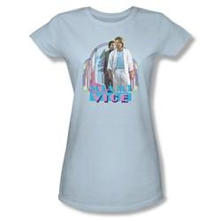 Miami Vice - Miami Heat Juniors T-Shirt In Light Blue