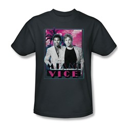 Miami Vice - Gotchya Adult T-Shirt In Charcoal
