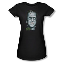 The Munsters - Herman's Head Juniors T-Shirt In Black