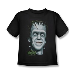 The Munsters - Herman's Head Juvee T-Shirt In Black