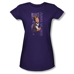 Murder She Wrote - Around The Corner Juniors T-Shirt In Purple