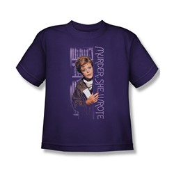 Murder She Wrote - Around The Corner Big Boys T-Shirt In Purple