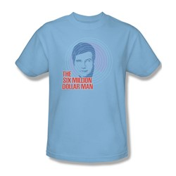 The Six Million Dollar Man - I See You Adult T-Shirt In Light Blue