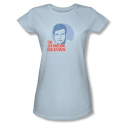 The Six Million Dollar Man - I See You Juniors T-Shirt In Light Blue