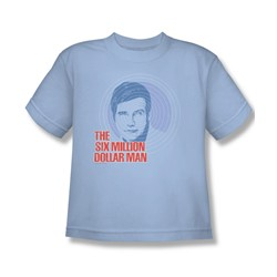 The Six Million Dollar Man - I See You Big Boys T-Shirt In Light Blue