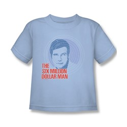 The Six Million Dollar Man - I See You Juvee T-Shirt In Light Blue