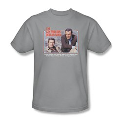 The Six Million Dollar Man - The First Adult T-Shirt In Silver