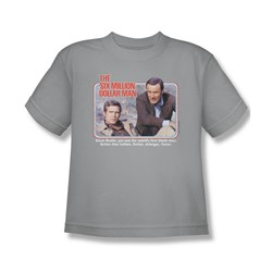 The Six Million Dollar Man - The First Big Boys T-Shirt In Silver