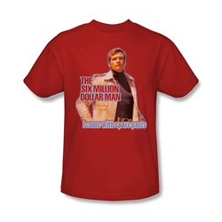 The Six Million Dollar Man - Spare Parts Adult T-Shirt In Red