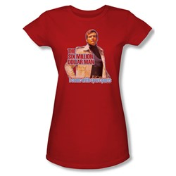 The Six Million Dollar Man - Spare Parts Juniors T-Shirt In Red