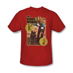 The Bionic Woman - Jamie And Max Adult T-Shirt In Red