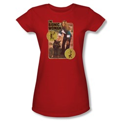 The Bionic Woman - Jamie And Max Juniors T-Shirt In Red