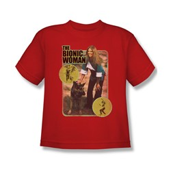 The Bionic Woman - Jamie And Max Big Boys T-Shirt In Red