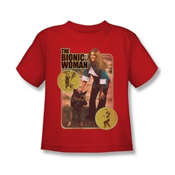 The Bionic Woman - Jamie And Max Juvee T-Shirt In Red