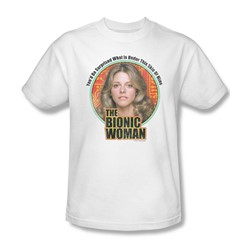 The Bionic Woman - Under My Skin Adult T-Shirt In White