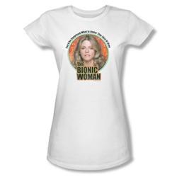 The Bionic Woman - Under My Skin Juniors T-Shirt In White