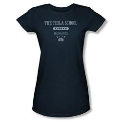 Eureka - Tesla School Juniors T-Shirt In Navy