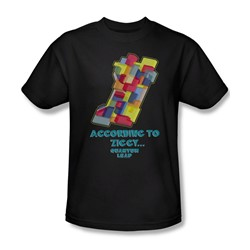Quantum Leap - According To Ziggy Adult T-Shirt In Black