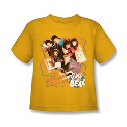 Saved By The Bell - It's All Right Juvee T-Shirt In Gold