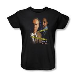 Law & Order - Briscoe & Green Womens T-Shirt In Black