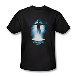 Quantum Leap - The First Leap Adult T-Shirt In Black