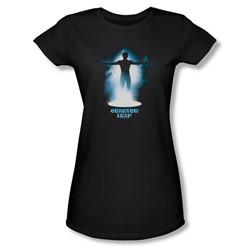 Quantum Leap - The First Leap Juniors T-Shirt In Black