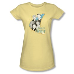 Leave It To Beaver - Wholesome Family Juniors T-Shirt In Banana