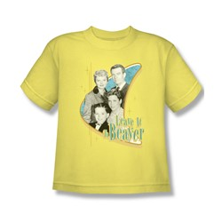 Leave It To Beaver - Wholesome Family Big Boys T-Shirt In Banana