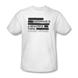 Covert Affairs - Espionage Adult T-Shirt In White