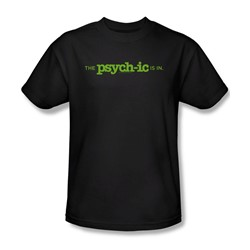 Psych - The Psychic Is In Adult T-Shirt In Black