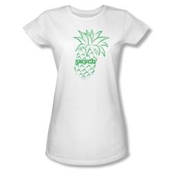Psych - Pineapple Juniors T-Shirt In White