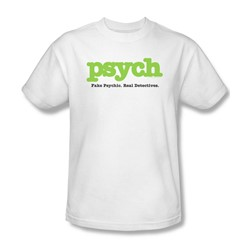 Psych - Psych Adult T-Shirt In White