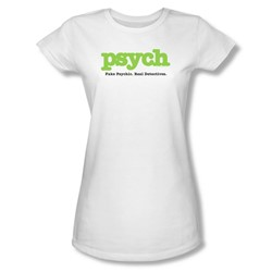 Psych - Psych Juniors T-Shirt In White