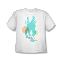 Psych - Predict And Serve Big Boys T-Shirt In White